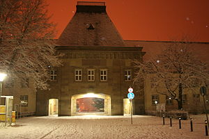 Johannes Gutenberg University Mainz - Forum of the Johannes Gutenberg University Mainz covered with snow