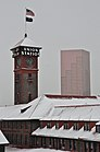 Union Station im Schnee Februar 2014 - von Broadway Bridge.jpg