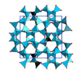 Unit cell of tetragonal AlP3O9.png