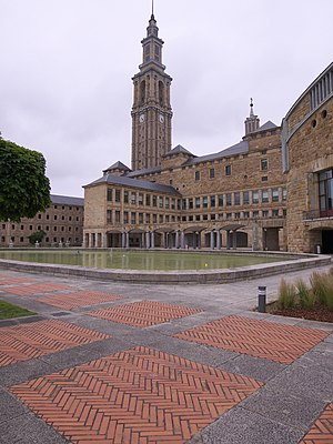 Universidad Laboral de Gijón - The tower of the Universidad Laboral