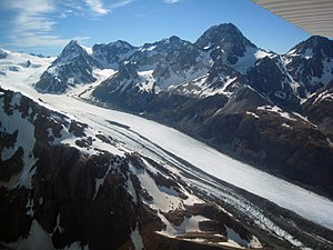 Tasman Glacier - Upper half of the Tasman Glacier