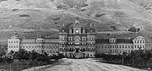 Utah State Hospital - The Utah State Hospital, circa 1896