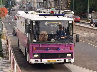 Remand (detention) - Buses of the Czech prison service are characterized by its white-violet color scheme and absence of windows in the prison section