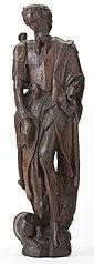 Beeldje van eikenhout, Johannes de doper