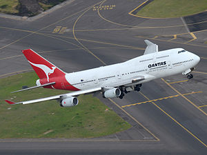 Longest flights - A Qantas B747-400 known as the City of Canberra (VH-OJA). This 747 flew from London to Sydney non-stop during its delivery flight, flying 18,000 kilometers in about 20 hours.