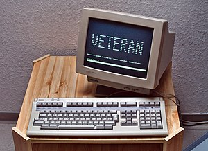 A VT420 terminal made by the Digital Equipment...