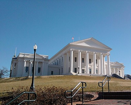 Thomas Jefferson designed the Virginia State Capitol in Richmond Va Capitol.jpg