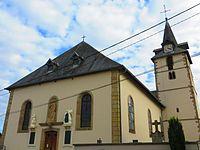 Val de Guéblange l'église Saint-Pierre à Guéblange lès Sarralbe.JPG