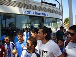 Nelson Valdez - Valdez during his presentation at Hércules CF.