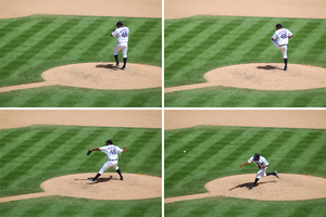 José Valverde - Valverde's pitching motion from 2010