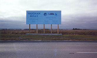 Vaughan Mills - Vaughan Mills site in October 2000, prior to construction.