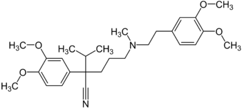 structural formula of Verapamil