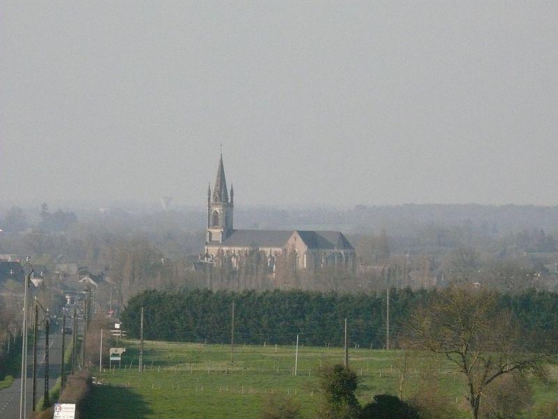 Saint-Gervais-and-Saint-Protais' church of Vern-d'Anjou (Maine-et-Loire, Pays de la Loire, France).