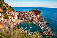 Vernazza and the sea, Cinque Terre, Italy.jpg