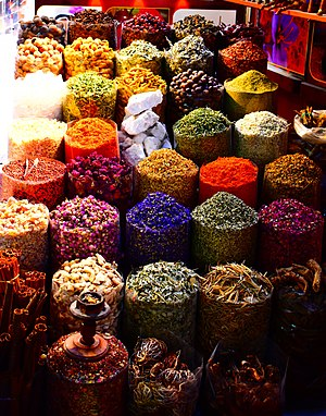 Traditional Middle Eastern spices at the Dubai Spice Souk in Deira, Old Dubai Vibrant Spices.jpg