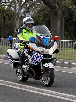 Victoria Police motorcycle officer