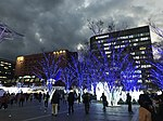 View in front of Hakata Station at dusk 20181213-2.jpg