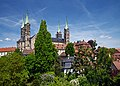 View of Bamberg Cathedral from Karmeliterplatz. Bamberg, Germany.jpg