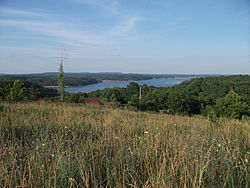 View of Beaver Lake from Prairie Creek, Arkansas
