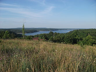 Beaver Lake (Arkansas) - View of Beaver Lake as seen from Prairie Creek, Arkansas.