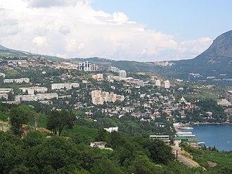 Gurzuf - Image: View of Gurzuf, Ukraine