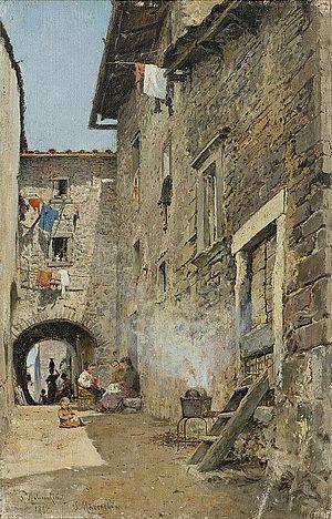 Rafail Levitsky - View of Mazzolada di Lison, Veneto, Italy. by Rafail Sergeevich Levitsky.(1896) The Di Rocco Wieler Private Collection, Toronto, Canada