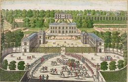 View of the Château de Marly from the entrance front by Pierre Aveline the elder and Nicolas de Poilly.png