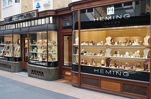 Heming (company) - View of the current Heming store at London's Piccadilly Arcade