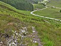 View towards the A87 from the stalkers' path - geograph.org.uk - 1379325.jpg