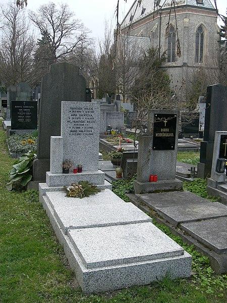 File:Vinohradský hřbitov - hrob Františka Balátě.jpg