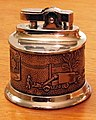 Vintage Asplundh Tree Company Advertising Table Cigarette Lighter By Idealine, Shows Tree Crew At Work (24954929587).jpg