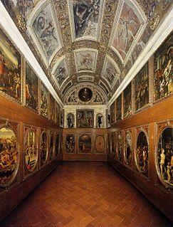Studiolo of Francesco I room in the Palazzo Vecchio, Florence