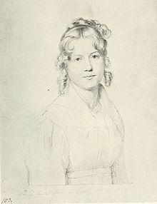 Louise Seidler in Rom 1820, porträtiert von Carl Christian Vogel von Vogelstein, von Sylke Kaufmann als Selbstbildnis angesehen[1] (Quelle: Wikimedia)
