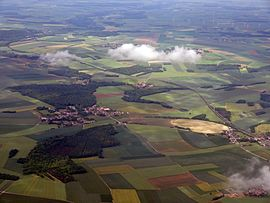 An aerial view of Tartigny and Rouvroy-les-Merles