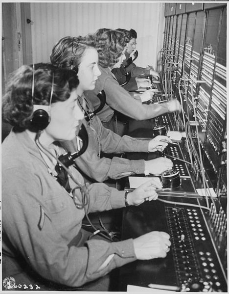 File:WAC telephone operators operate the Victory switchboard during the Potsdam Conference in their headquarters in... - NARA - 199007.jpg