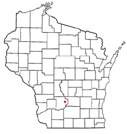 Location of Baraboo in Wisconsin