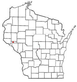 Location of Durand (town), Wisconsin