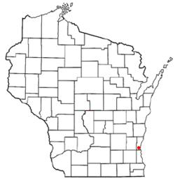 Vị trí trong Quận Ozaukee, Wisconsin