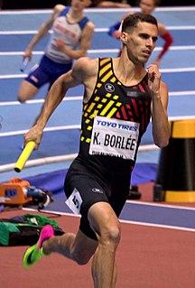 Kevin Borlée Belgian sprinter