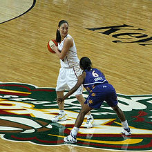 Sue Bird en 2008 sous le maillot de Seattle