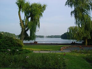 Wałcz - Lake Zamkowe, city park