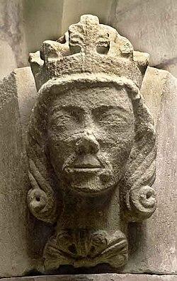 Waldemar of Sweden (1240s) bust 2009 Skara (2).jpg