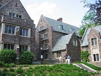 Princeton, New Jersey - Princeton University's Cuyler, Class of 1903, and Walker Halls are dormitories with Collegiate Gothic architecture