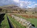 Wall lined track approaching Tal y-llyn - geograph.org.uk - 645508.jpg