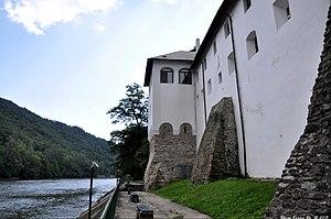Cozia Monastery - Walls of Cozia Monastery on Olt River's bank