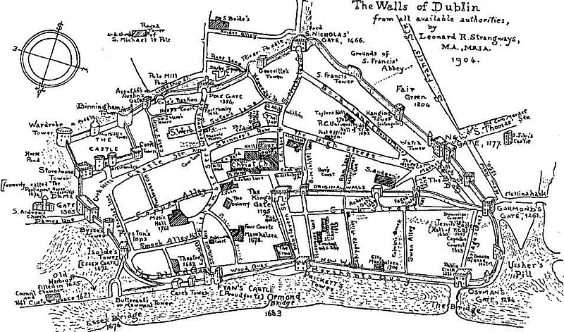 File:Walls of Dublin with Bridge, R Poddle and other waterways.jpg