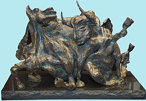 Julio Aguilera - War and Peace. Bronze, 2004