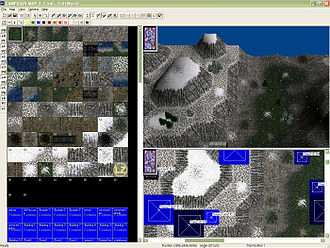 Level editor - A level editor in the strategy game Warzone 2100
