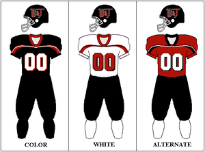 Washington & Jefferson Presidents football - Image: Washjeff football uni