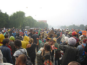 Food fight - Gemüseschlacht (The Vegetable Fight) in Berlin, Germany